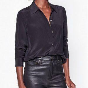 Leema silk shirt true black 100% silk equipment